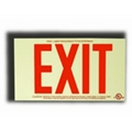 Red Photoluminescent Exit Sign